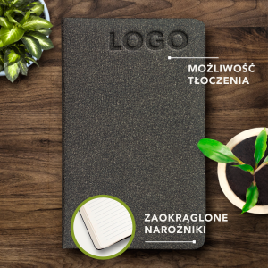 ECO NOTES ALCANTARA - Dark Brown